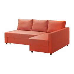 FRIHETEN Sofá cama esq dcha/izda SKIFTEBO naranja oscuro