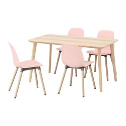 LISABO/LEIFARNE Mesa con 4 sillas