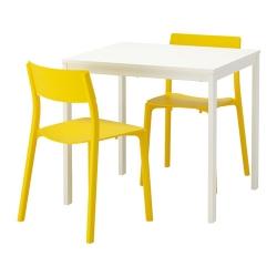 VANGSTA/JANINGE Mesa y dos sillas