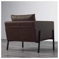 KOARP Sillón, Farsta marrón oscuro desenfundable