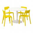 DOCKSTA/JANINGE Mesa con 4 sillas