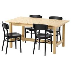 NORDEN/IDOLF Mesa con 4 sillas
