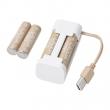 VINNINGE/LADDA Cargador baterías +4 baterías