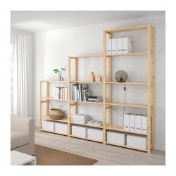 IVAR Estructura almacenaje 259x30x226 cm con estantes
