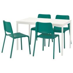VANGSTA/TEODORES Mesa con 4 sillas