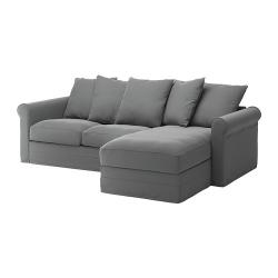 GRÖNLID Sofá 3 plazas con diván