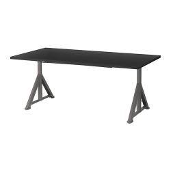 IDÅSEN Escritorio profesional 160x80 cm negro/gris