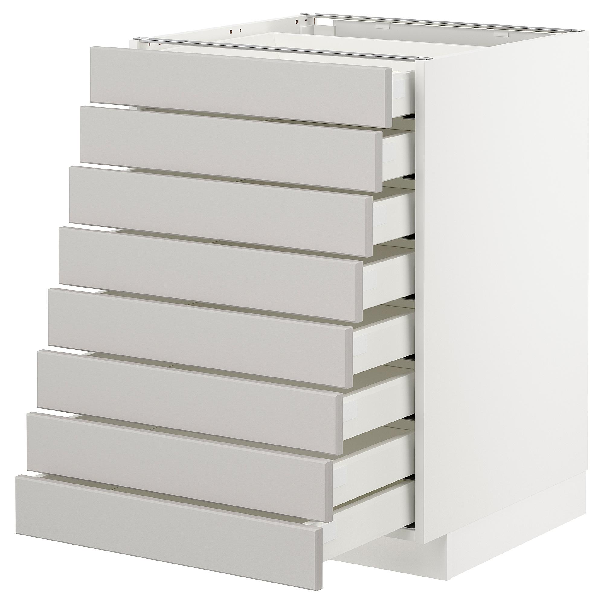 METOD armario bajo cocina con 8 cajones