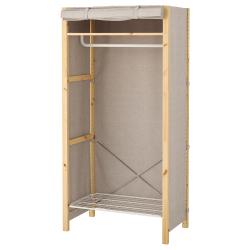IVAR Armario con funda 89x50x179 cm con riel, estante y zapatero