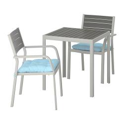 SJÄLLAND Mesa+2 sillas reposabr, ext