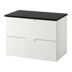 GODMORGON/TOLKEN Armario lavabo 2 cajones