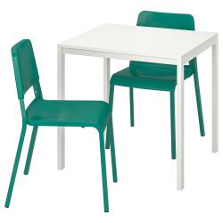 MELLTORP/TEODORES Mesa y 2 sillas