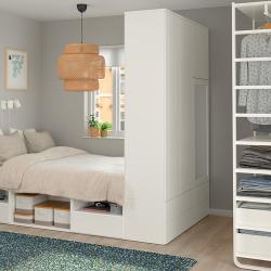 PLATSA Estructura cama con almacenaje 6 cajones + armario