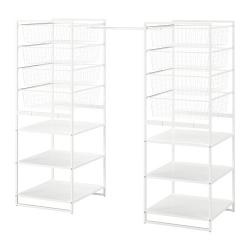 JONAXEL Estructura organización 142x51x139 cm con cestos, barras y estantes