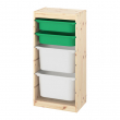 TROFAST Combinación almacenaje+cajas