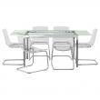 GLIVARP Mesa y 6 sillas