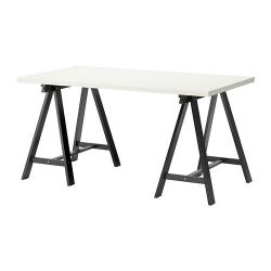 LINNMON/ODDVALD Mesa de escritorio 150x75 cm blanco/negro