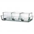 MIXTUR Fuente horno, vidrio 4 pzas