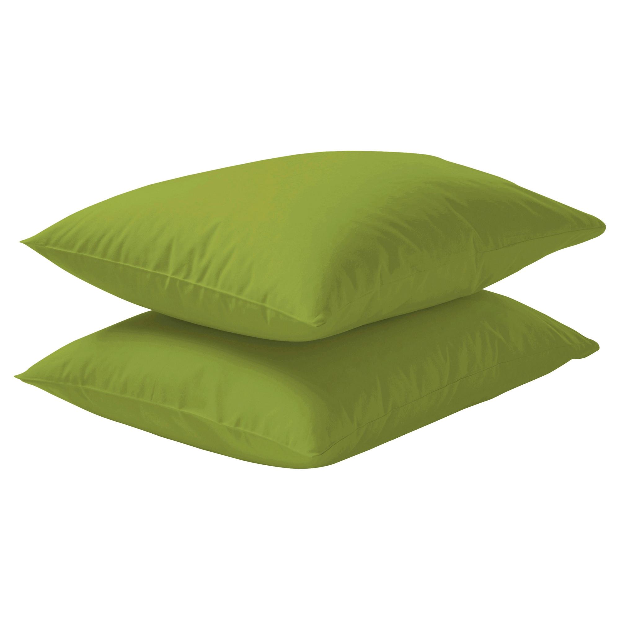 dvala 50x80 funda para almohada verde vivo 2 unidades. Black Bedroom Furniture Sets. Home Design Ideas