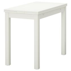 BJURSTA Mesa extensible, 50/70/90x90 blanco