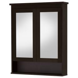 1 x HEMNES Armario con espejo, 2 puertas