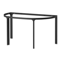 2 x BEKANT Estructura semicircular para tablero 140x70 cm negro