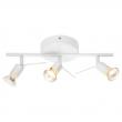 TROSS Lámpara techo para 3 focos blanco