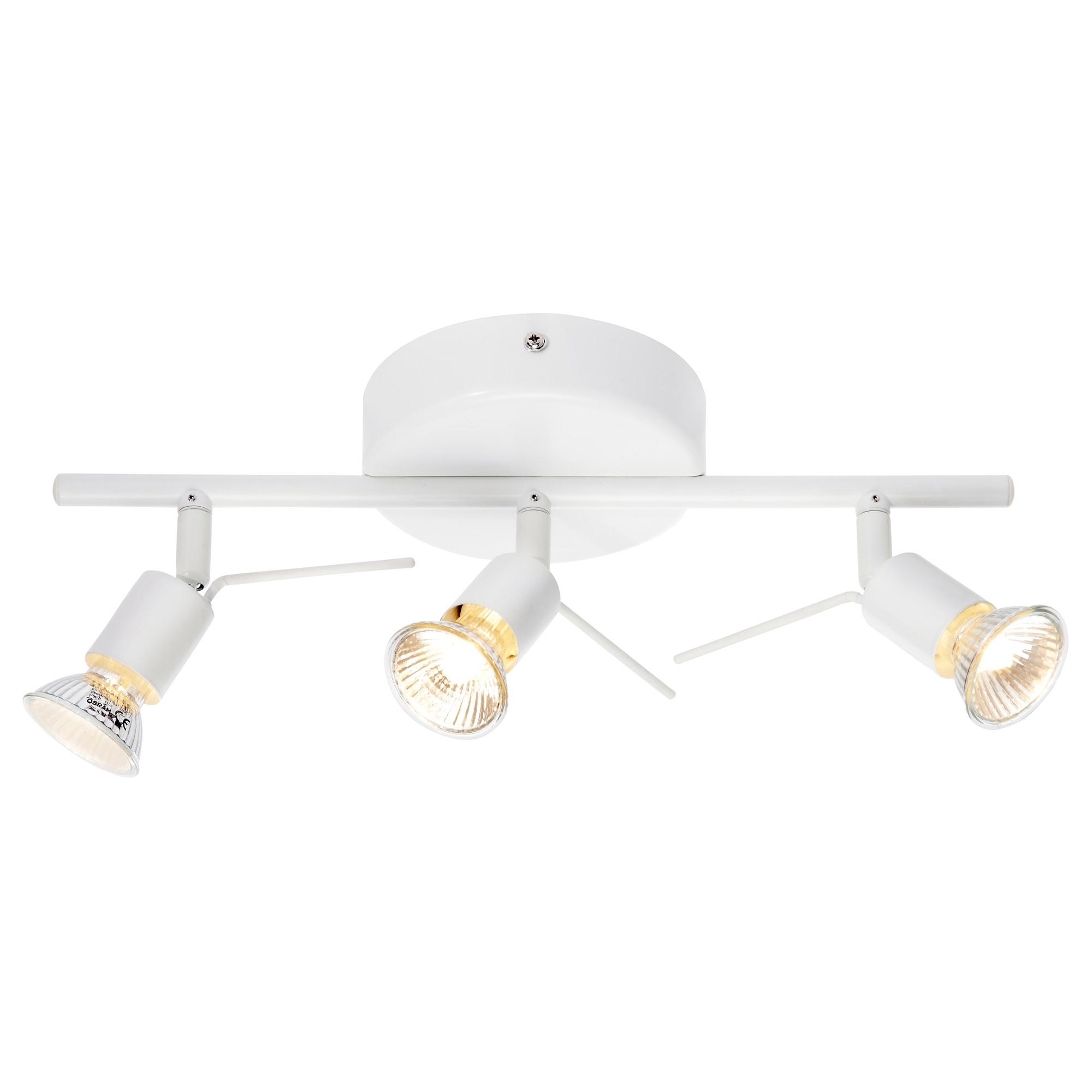 Tross l mpara techo para 3 focos blanco for Ikea lamparas de pared