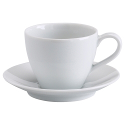 VÄRDERA Taza de café con plato, 20cl