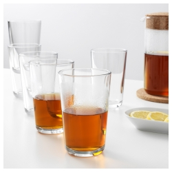 IKEA 365+ Vaso de vidrio 15 oz, 6 unds.