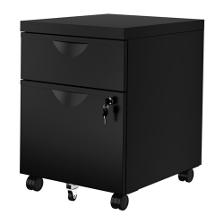 ERIK Drawer unit w 2 drawers on castors