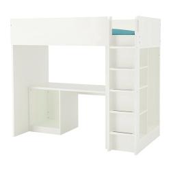 STUVA Armazón litera+escritorio+almcn