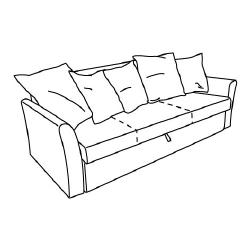 1 x HOLMSUND Estructura sofá cama 3 plazas