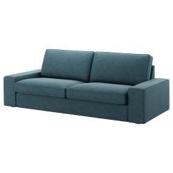 1 x KIVIK Funda sofá 3 plazas HILLARED azúl oscuro