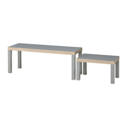 LACK Juego de mesas, 2 piezas