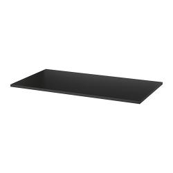 1 x IDÅSEN Tablero para escritorio 160x80 cm negro