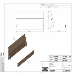 1 x LIDHULT Estructura sofá cama 2