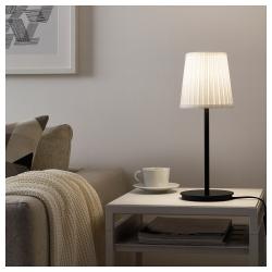 SKAFTET Pie de lámpara de mesa negro E14