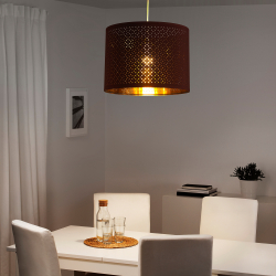 NYMÖ Pantalla para lámpara rojo oscuro/bronce 44 cm