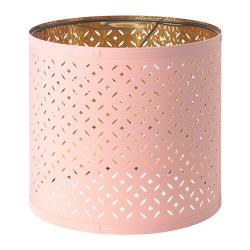 NYMÖ Pantalla para lámpara rosa/bronce 24 cm