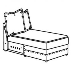 HÄRLANDA Armazón módulo chaise longue