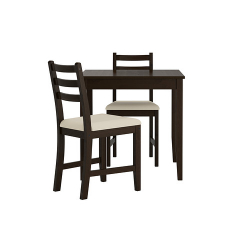 LERHAMN Table and 2 chairs