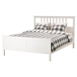 HEMNES King bed frame with Luröy slatted