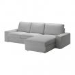 KIVIK Sofá 3 plazas con diván, ORRSTA gris claro