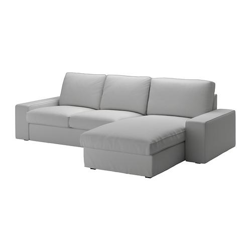 Miraculous Kivik Three Seat Sofa With Chaise Longue Orrsta Light Grey Uwap Interior Chair Design Uwaporg