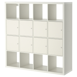KALLAX Shelving unit with 8 inserts