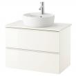 GODMORGON/ALDERN Armario lavabo 2 caj 80cm (sin grifo)