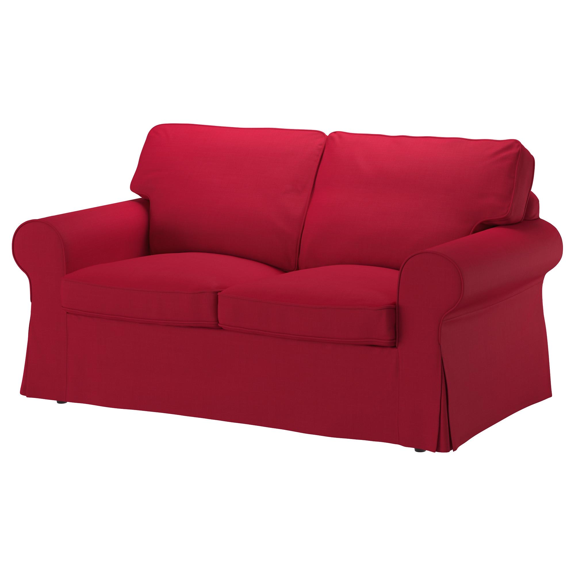 EKTORP sofá 2 plazas con funda NORDVALLA rojo