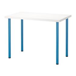LINNMON/ADILS Mesa de escritorio 100x60 cm blanco/azul