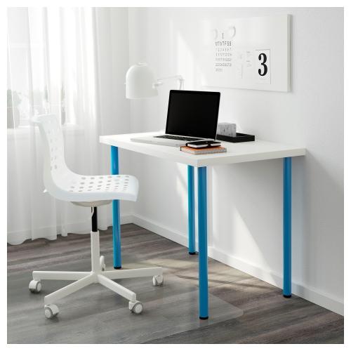 LINNMONADILS mesa de escritorio 100x60 cm blancoazul